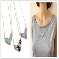 Hot Kite V Necklace, Durzy V Shape Necklace, Nature Stone ne...