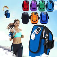 Cep telefonu ve evrensel tüm telefon için Kol Bandı Kol Bandı Su Geçirmez Telefon kılıfları Kapak Gym Run Spor Spor Bilek El Kemer Kılıfı çanta