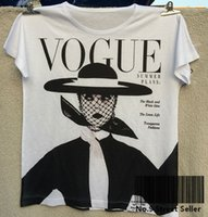 Wholesale-Track Ship+Vintage Retro Good Feeling T-shirt Top Tee Vogue Black and White Idea Hat Old Style Woman Fashion 0293