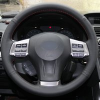 Black Leather cucito a mano Car Steering Wheel Cover per Subaru Forester 2013-2015 Legacy Outback 2013-2014 2013-2014 XV 2013