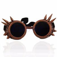 빅토리아 고딕 코스프레 리벳 Steampunk 고글 안경 용접 펑크 5 색