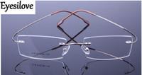 Vendita al dettaglio 1pcs Non-vite uomini / donne titanio telaio senza montatura in titanio, memoria titanio vetro montature da vista