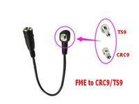 10 UNIDS LOTE FME A CRC9 TS9 Conector RF coaxial Adaptador macho a macho FME-CRC9 / TS9 RG174 50OMEb 20CM