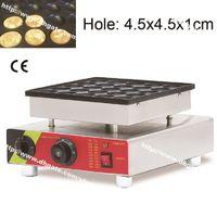 25 Delik Paslanmaz Çelik Yapışmaz 110 v 220 v Elektrikli Mini Hollandalı Gözleme Poffertjes Makinesi Maker Baker