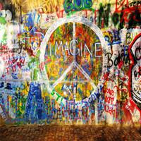 Красочные граффити стены фотографии фон кирпичный пол дети дети стенд стрелять опора фотостудия фон 10x10ft