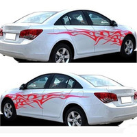 5 Colors 1 Pair Universal Car The Whole Body Sticker Fire Fl...
