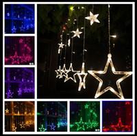 110V / 220V Led 문자열 플래시 스타 커튼 조명 램프 크리스마스 웨딩 바 숍 야외 / 실내 방수 홈 장식 조명 램프