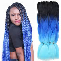 Mtmei Hair 24Inch 100g Pack two tones Synthetic Jumbo Braids...