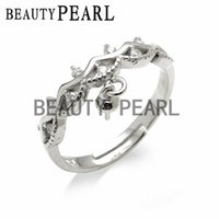 Pearl Accessories Ring Findings Zircons 925 Sterling Silver ...