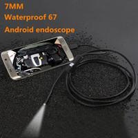 1M 2M 3.5M Эндоскопический бороскоп USB Android Инспекционная камера 6 LED 7 мм Объектив 720 P Водонепроницаемая автомобильная эндоскопическая трубка мини камеры