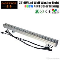 Tiptop High Quality 24 * 4W Outdoor LED Wall Light RGBW LED Bar Light DMX Tryb, LED Stage Light Wodoodporna IP65 90V-240V