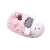 Al por mayor- 0-12M Lovely Baby Boys Girls Winter Warm Plush Botines Infantiles Soft Slipper Cuna Zapatos