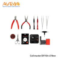 Mais novo mestre de bobina diy kit v3 kit ferramenta nova ferramenta atualizada v3 com 521 mini tab ii para vape 100% original