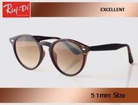 wholesale new top quality Luxury rlei di Round Sunglasses Wo...