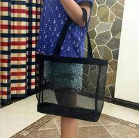 Venta caliente! Classic Shopping Mess Bag Luxury Pattern Bolsa de viaje Bolsa de lavado de mujeres Cosmetic Maquillaje Malla de malla
