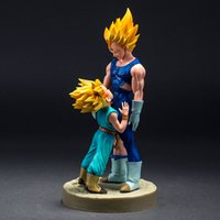 Dragon Ball Z Dramatic Showcase Super Saiyan Vegeta e Trunks Anime Action Figure da collezione Model Toys 21cm Brinquedos One Piece Toy