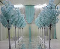 1.5m 5Feet 높이 화이트 인공 벚꽃 나무 웨딩 쇼핑몰을위한 로마 열 도로 리드 오픈 소품