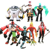 Lotto Ben 10 Action Figure Play set Toy Cake Topper Wildmutt Grey Matter Esagonale XLR8 Heatblast Four Arms Cannon Bolt Doll Figurines Gift