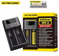 Novo Nitecore I2 Carregador Universal para 16340 18650 14500 26650 Bateria E Cigarro 2 em 1 Função Muliti Intellicharger I2 I4 UM10 UM20