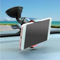 الجملة العالمي 360 درجة سيارة الزجاج الأمامي جبل خلية الهاتف المحمول يتصاعد حاملات حاملات قوس لآيفون 5 6 7 سامسونج s7 s6 حافة