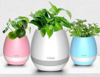 Nova TOKQI Bluetoth Música Inteligente Toque Vasos de Plantas Piano Música Jogando Vaso de Flores Sem Fio colorido luz vasos de Flores (sem Plantas)