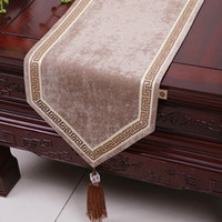 120 inch extra lange patchwork kanten tafel runner high-end fluweel stof eettafel doek luxe Europese stijl tafel matten placemat