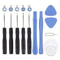 11 en 1 tournevis Kits d'outils de réparation de téléphone cellulaire Ensemble d'outils tournevis Torx pour iPhone Samsung HTC Sony Motorola LG