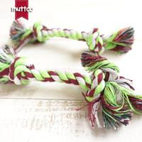 Al por mayor alta calidad cuerda simple doble nudo juguete del perro juguete cuerda de algodón cuerda de perro juguete DRT-027