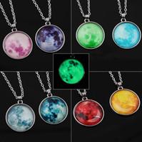 Nébuleuse Space pendentif lueur dans l'astronomie sombre geek bijoux science galaxie espace collier verre dôme pendentif bijoux cadeau de Noël