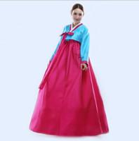 Q228 2016 chegam novas Costumes Moda coreana Hanbok Tradicional Vestidos Coreano dança frete grátis