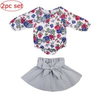 Ins spring Baby girls Floral Jumpsuit Balloon sleeve rompers...