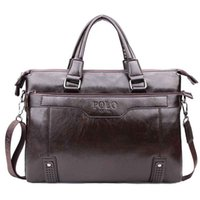 High Capacity Hollow Out Bottom Men' s Leather Briefcase...