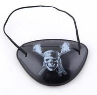 Party Maske Coole Augenklappe Blindage Zubehör Piraten Einäugige Piraten Augenklappe mit flexiblen Seil für Weihnachten Halloween Kostüm Kinder Spielzeug