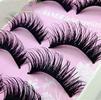 Wholesale- 5 Pairs Women Lady Natural Eye Lashes Makeup Hand...