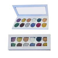 2017 Yeni Glitter Gözler Göz Farı Paleti 12 Renkler Makyaj Göz Farı Paleti Glitter DHL kargo