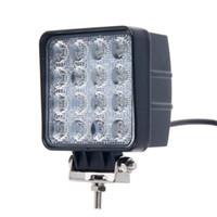 2017 48W 4.5 pollici LED Work Light Flood Driving Lampada per auto Camion rimorchio SUV Offroads Barca 12V 24V 4WD