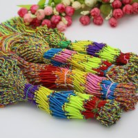 Последний дизайн пряди браслеты оптом L браслет смешивать цвета последний дизайн Mix много кос Дружбы шнуры пряди браслеты 100 шт.