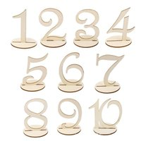 newest decoration mariage 110 wooden table numbers with holder base for wedding home decoration place card holder jm0318