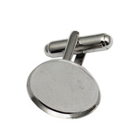 Beadsnice Solid 925 Sterling Silver Cufflinks Wholesale Factory Price French Cufflink Backs with 18mm Cuff link Blanks ID25014