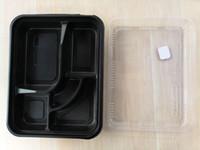 Nouveau à usage unique 5 compartiment Déjeuner repas Bento récipient de nourriture à emporter Boîte alimentaire Vaisselle Case