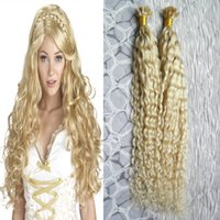Kinky Curly Blonde Virgin Hair U Tip Hair Extensions 100g 1g/strand natural Pre Bonded Hair On Keratin Capsules Hot Fusion Extensions