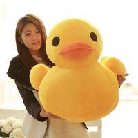 """One piece 70cm (28"""") гигантская желтая утка чучела животных плюшевые мягкие игрушки милая кукла"""