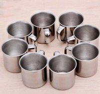 NEW Single- layer Stainless Steel Coffee Cups Portable Eco- fr...