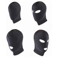 New Arrival Adult games Fetish Hood Mask BDSM Bondage Black ...