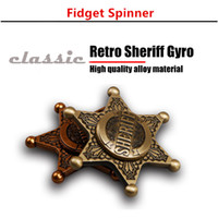 2017 New Style Retro Police Insignia Metal EDC Spinner à main Spinner de stress de doigt de métal Stress Wheel Spinner de doigt Main Hot Sale Wholesale