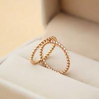 Topkwaliteit 316L Titanium staal Zuid-Korea Hennep Bloemen Design Ring Vrouwelijke gecontracteerde staart en Mid Finger Ring Mannen en vrouwen Liefhebbers Jewelr