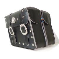 2 × العالمي دراجة نارية saddlebags أكياس السرج (يسار + يمين) الحقيبة دراجة نارية الملحقات، شحن مجاني