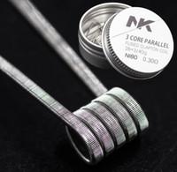Бесплатная доставка новый NK восстановить катушки тройной плавленый clapton 28ga Ni80 проволока низкое сопротивление распылитель фитиль