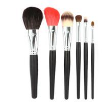 Natur Haar Make-up Pinsel Set 6 stücke Professionelle Puder Foundation Rouge Concealer Lidschatten Lippen Make-Up Pinsel Schönheit Werkzeuge Kit