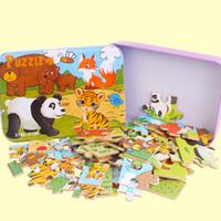 خشبية اللغز الكرتون لعبة 3d الخشب لغز الحديد مربع حزمة بانوراما لغز الطفل التعليمية مونتيسوري لعبة أطفال هدية